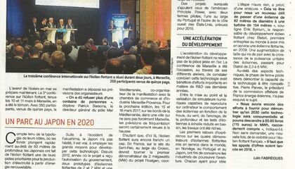 Article FOWT 2016 - Le Marin